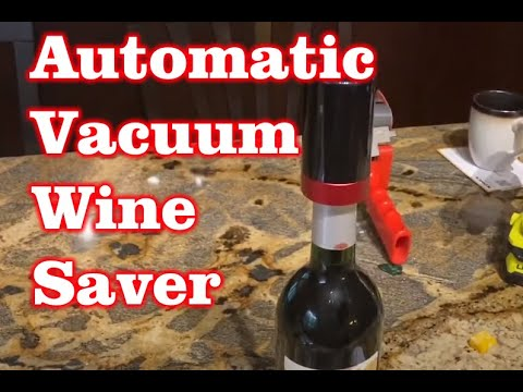 Automatic Vacuum Wine Saver – Amazon Review – Gift Ideas Under $20