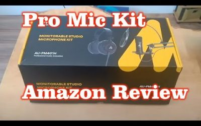Monitorable Studio Microphone Kit Review from Amazon AU-PM401H – Gift Ideas Under $100